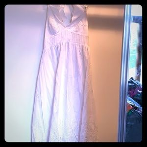 White Dress with Lacey Details